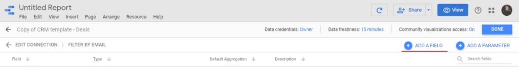 Add a field in your data source on Google Data Studio