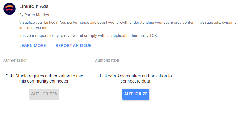 Authorize and pull LinkedIn ads data